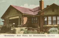 Brocklesby Rest Home for Gentlewomen, Lilydale, 1964
