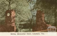Melba Memorial Gate, Lilydale, 1964