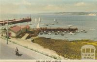 Pier and boat harbour, Mornington, 1951
