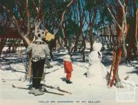 Hello Mr Snowman at Mount Buller, 1974