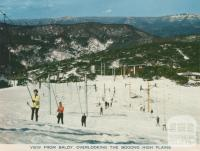 View from Baldy overlooking the Bogong Plains, Mount Buller, 1974