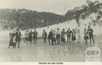 Skaters on Lake Catani, Mount Buffalo