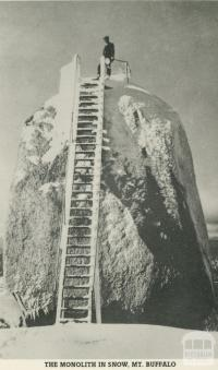 The Monolith in snow, Mount Buffalo