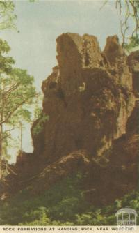 Rock formations at Hanging Rock, near Woodend, 1955