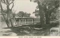 Snowy River Bridge at Orbost, 1947