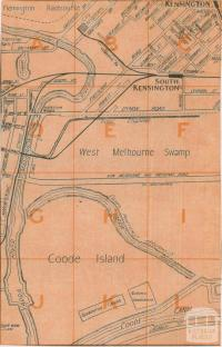 Map of Coode Island, 1936