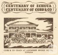 Envelope, Centenary of Echuca and Cobb & Co, 1953