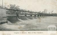 Irrigation in Victoria, Weir of River Goulburn