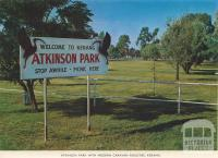 Atkinson Park with Modern Caravan Facilities, Kerang, 1975
