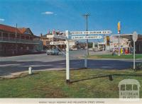 Murray Valley Highway and Wellington Street, Kerang, 1975