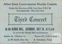 Concert, the Olinda Hall