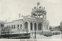 Soldiers' Memorial Hall, Bendigo