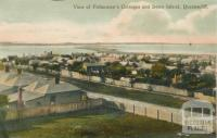 View of Fishermen's Cottages and Swan Island, Queenscliff