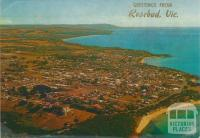 Aerial view of Mornington Peninsula, looking south to Mt Martha