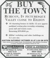 Land Sale Advertisement, Rubicon, 1997
