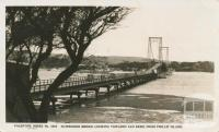 Suspension Bridge, looking towards San Remo from Phillip Island, 1949