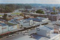 View from the Tourist Tower over Wyndham Street, Shepparton