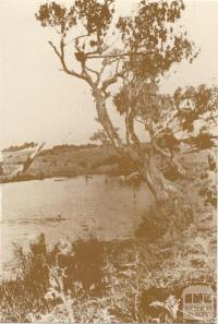 Kororoit Creek at Forrest Street, Sunshine, c1930