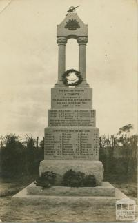 Templestowe WWI war memorial