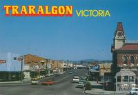 Looking along Franklin Street, Traralgon's main street