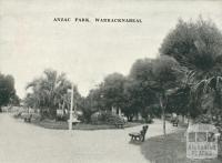 Anzac Park, Warracknabeal, 1945