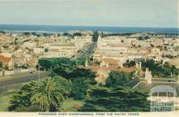 Panorama over Warrnambool from the water tower, 1960