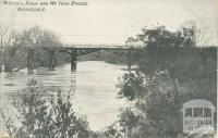 Mitchell River and Wy Yung Bridge, Bairnsdale, 1909