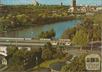 Princes Bridge and South Gate Fountain, Melbourne, 1974