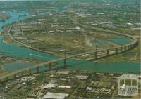 Aerial view of Westgate Bridge, Melbourne