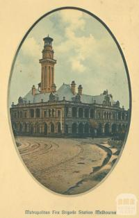 Metropolitan Fire Brigade Station, East Melbourne, 1912