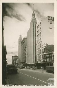 Tall buildings in Swanston Street, Melbourne
