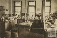 Cookery class, Warrnambool High School c1910