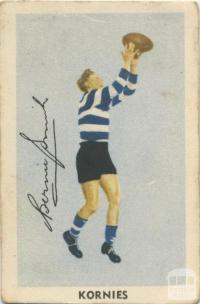 Bernie Smith, Geelong Football Club, Kornies Card