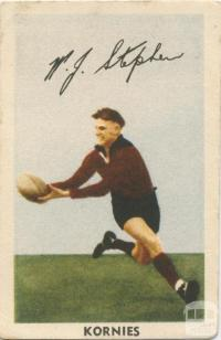 W. J. Stephen, Fitzroy Football Club, Kornies Card