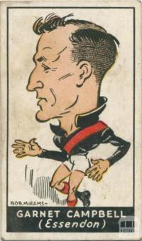 Garnet Campbell, Essendon Football Club, Standard Cigarettes Card