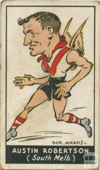 Austin Robertson, South Melbourne Football Club, Standard Cigarettes Card