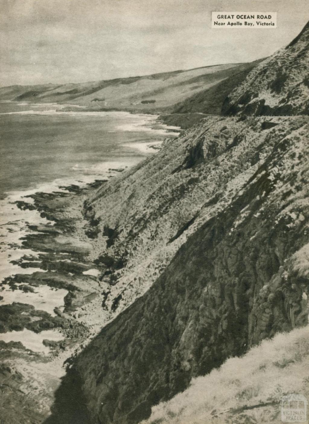 Great Ocean Road, near Apollo Bay, 1954