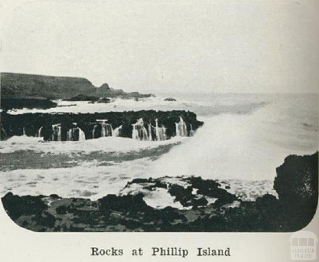 Rocks at Phillip Island, 1918