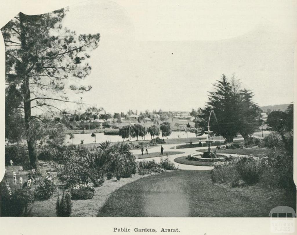 Public gardens, Ararat, 1918