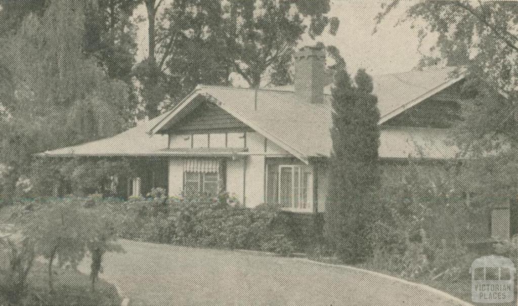 Bray Lodge Guest House, Olinda, 1947-48
