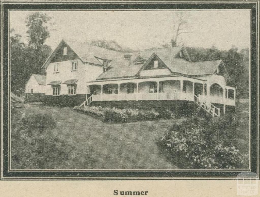 Kooringa Boarding House (Summer), Marysville, 1918-20
