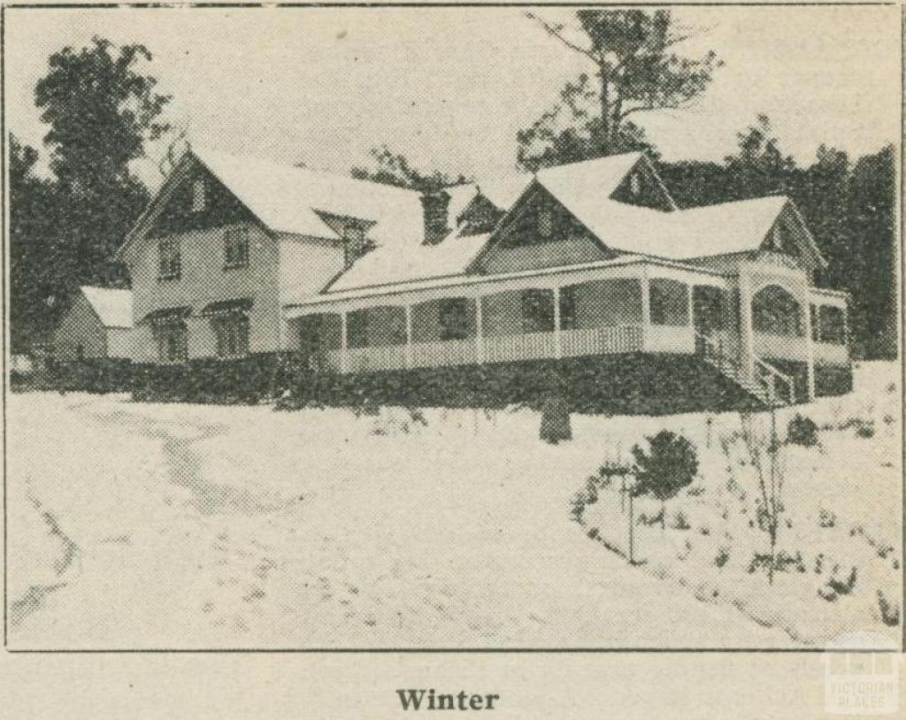 Kooringa Boarding House (Winter), Marysville, 1918-20