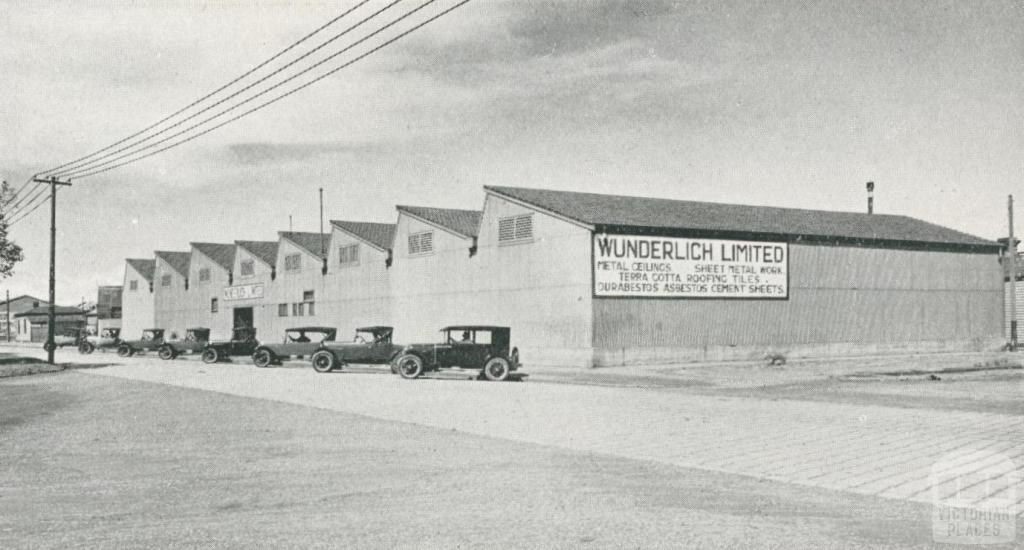 Exterior View of the Metal Working Department and Store, South Melbourne, 1927