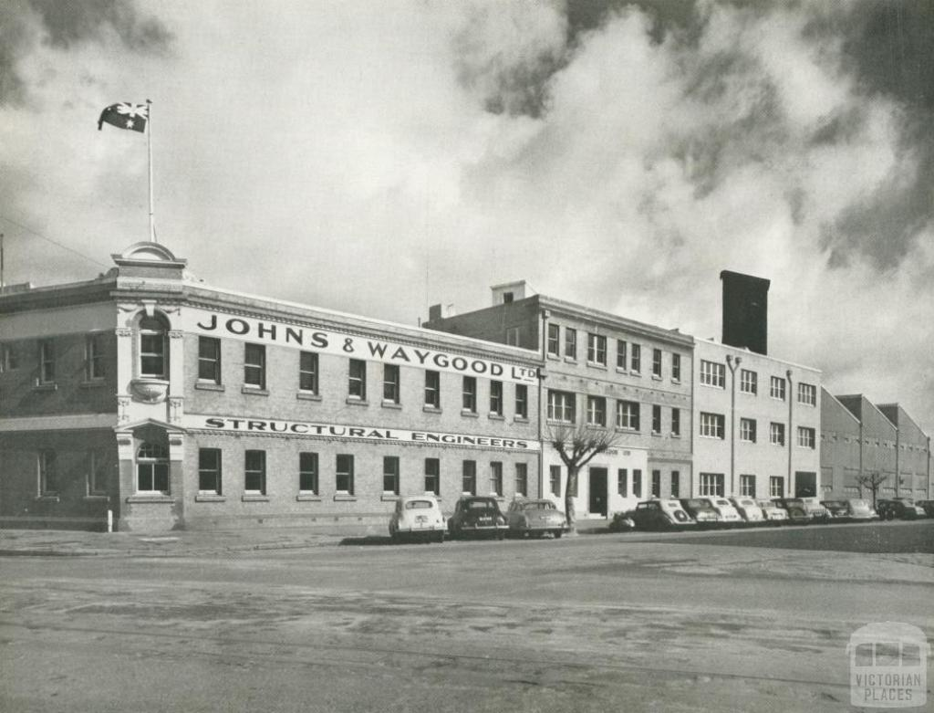 Johns & Waygood, Head Office, City Road, South Melbourne, 1956