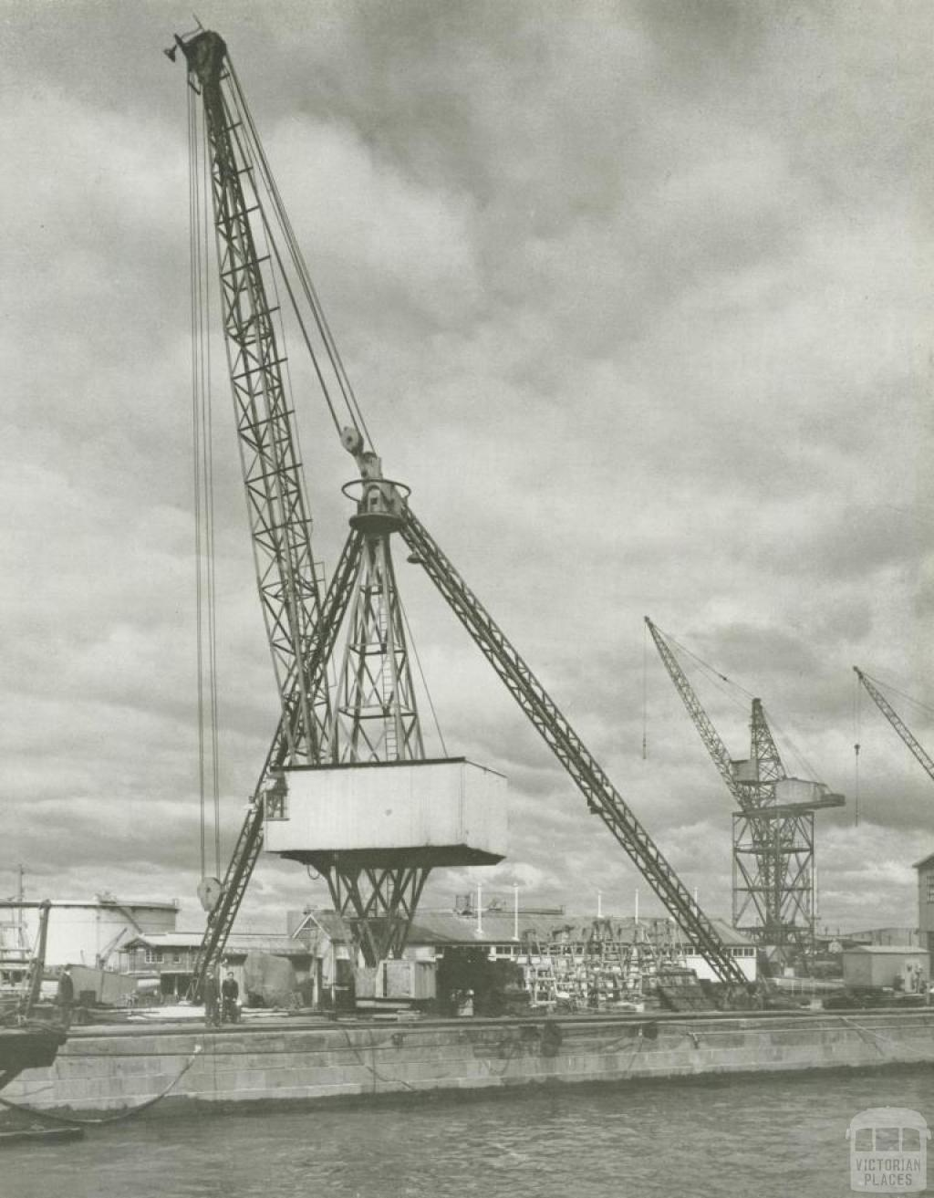 Jib-Crane, Williamstown naval dockyard, 1956