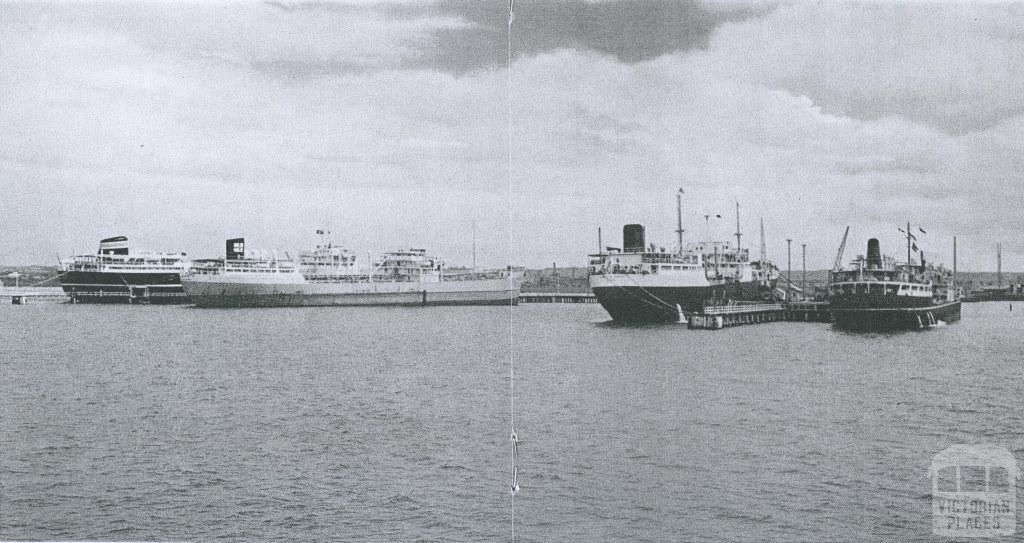 Shipping activities in the Port of Geelong, 1965