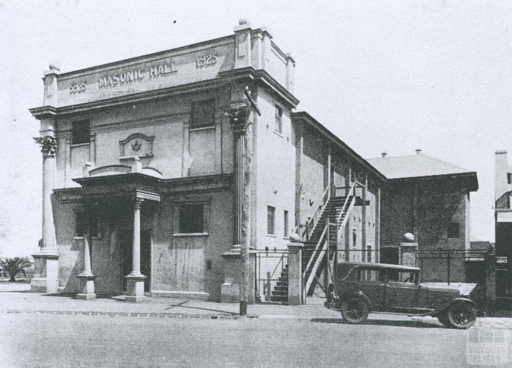 The Masonic Hall at Newport, 1934