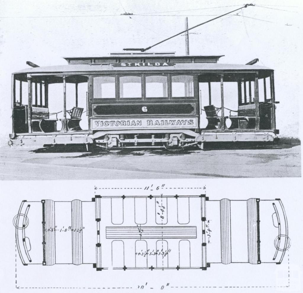Electric Street Car, Newport, 1911