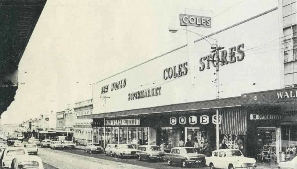 Sydney Road, looking south, Coburg, 1969