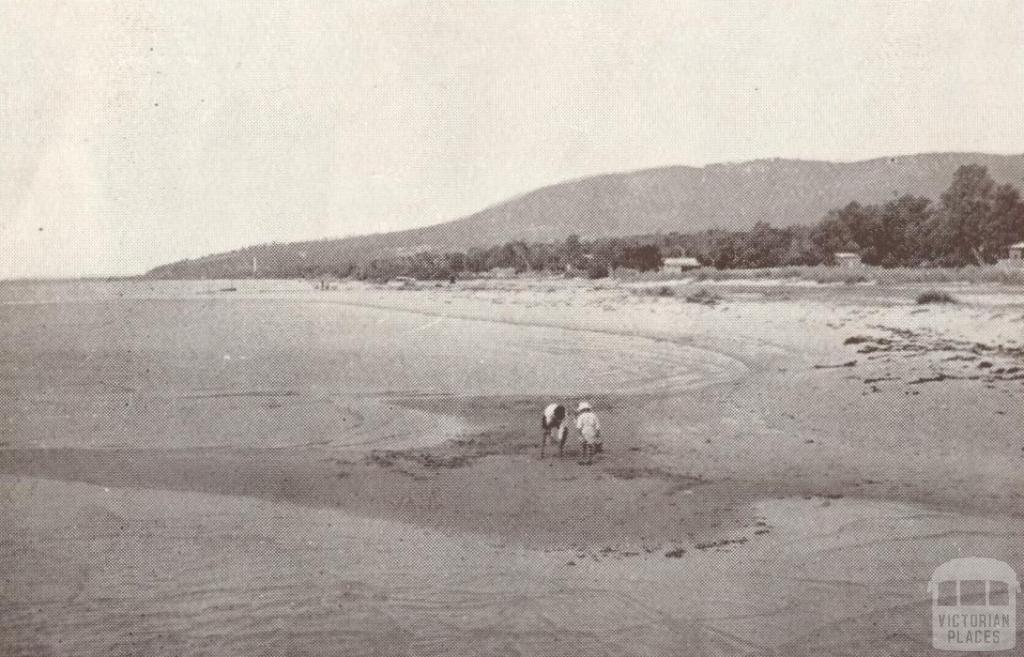 Beach at Rosebud, 1929